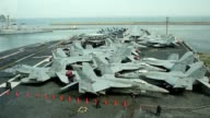 US nuclear powered aircraft carrier USS George Washington arrives for a joint salvation exercise with South Korea and Japan off the Korean peninsula