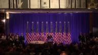 A nueve dias de que asuma el poder Donald Trump ofrecio el miercoles su primera conferencia de prensa como presidente electo de Estados Unidos en la...