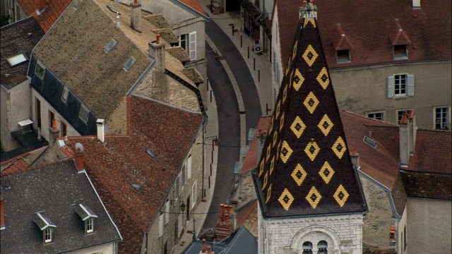 Nuits-Saint- George - Aerial View - Bourgogne, Cote d'Or, Arrondissement de Beaune, France
