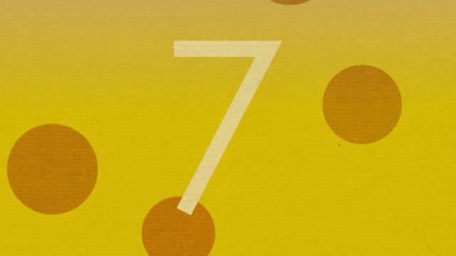 Number 7 Animation Chroma Key Green For Intro and Countdowns