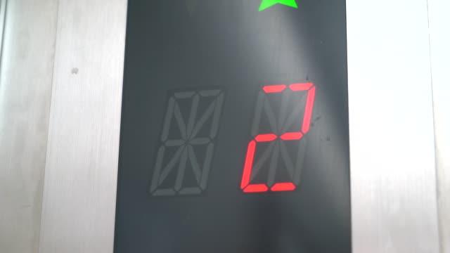 number moving on elevator