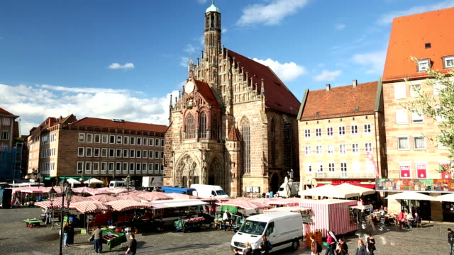 Nuremberg market with frauenkirche