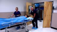 Nurse Doctor stretcher in hospital