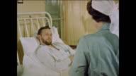 Nurse helps patients in hospital