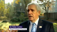 Nursing leaders warn of crisis over NHS staffing levels ENGLAND London EXT Dr Peter Carter interview SOT This will put an already strained health...