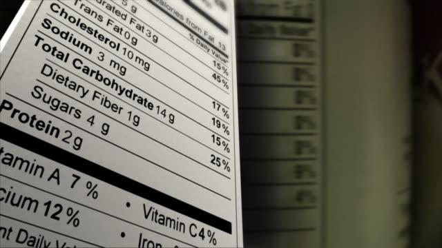 Nutrition Facts Random Data