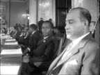 Nyasaland Constitutional Conference opens in London ENGLAND London Marlborough House INT Wide shot meeting table / Rab Butler seated / Mr Hastings...