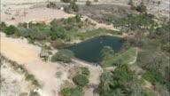 AERIAL Oasis in Negev Desert, Israel