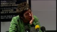 Oasis photocall and Noel Gallagher press conference Gallagher press conference SOT On doing gig with Crouch End Choir/ Oasis songs are kind of like...