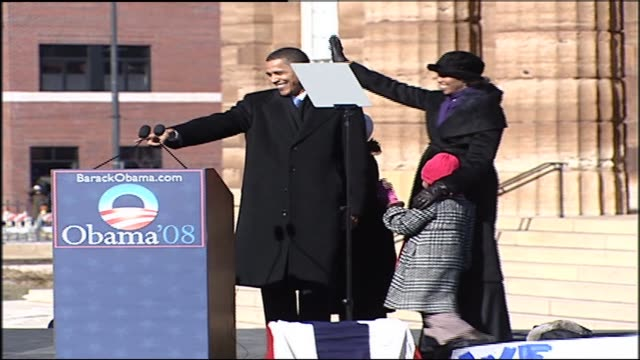 Obama Announces His Run For Presidency on February 10 2007 in Springfield Illinois
