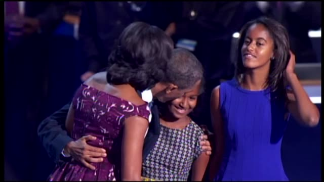 WGN Obama Family Takes The DNC Stage on September 06 2012 in Charlotte North Carolina