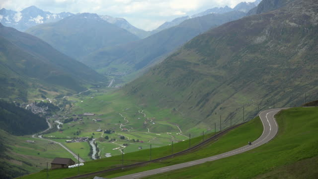 Oberalp Pass Road near Andermatt, Canton Uri, Switzerland, Europe