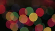 Objects Colorful blinking christmas lights on black background
