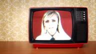 Veraltet Fernseher mit schlechtes Signal