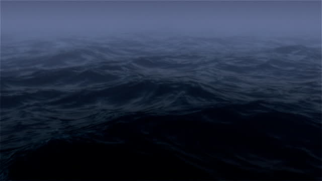Ocean at Night with Fog