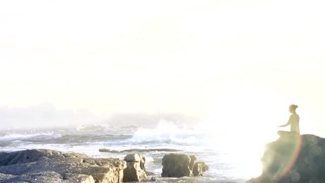 Ocean meditation Woman