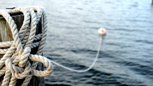 Ocean Rope and Bouy Background