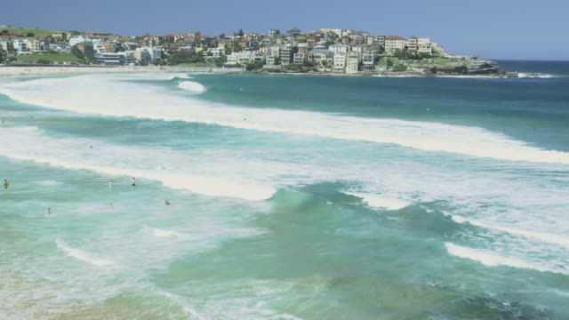 Ocean Waves at Bondi Beach, Sydney, New South Wales, Australia