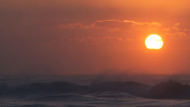 Ocean waves crashing on the north shore of Hawaii