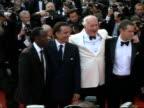 Ocean's Thirteen Arrivals for film premiere WARNING Cannes EXT **music heard in background** 'Ocean's Thirteen' actors George Clooney Matt Damon Brad...