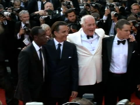 Ocean's Thirteen Arrivals for film premiere WARNING Cannes EXT **music heard in background** 'Ocean's Thirteen' actors George Clooney Matt Damon Brad...