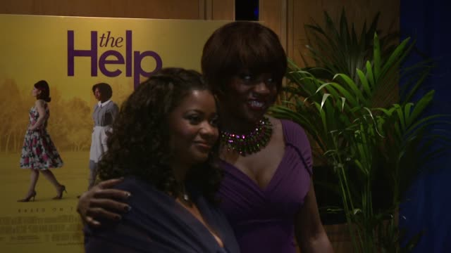 Octavia Spencer and Viola Davis at the The Help UK Premiere at London England