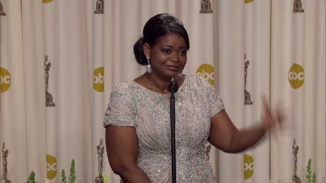 Octavia Spencer explains how Steven Spielberg changed her life at 84th Annual Academy Awards Press Room on 2/26/12 in Hollywood CA