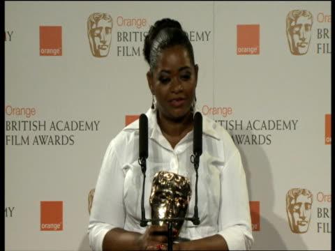 Octavia Spencer on her prize at the Orange British Academy Film Awards 2012 Press Room INTERVIEW Octavia Spencer on her prize at the Ora at The Royal...
