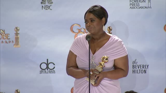 Octavia Spencer on working with the cast at 69th Annual Golden Globe Awards Press Room on 1/15/2012 in Beverly Hills CA