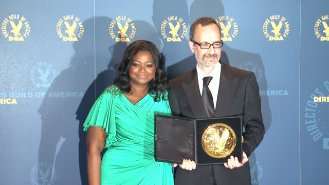 Octavia Spencer Robert B Weide at 64th Annual DGA Awards Press Room on 1/28/12 in Los Angeles CA