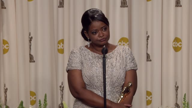 Octavia Spencer talks about the message of the film 'The Help' at 84th Annual Academy Awards Press Room on 2/26/12 in Hollywood CA
