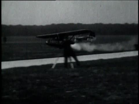 October 10, 1929 WS Pilot flying in rocket airplane / Frankfurt, Germany