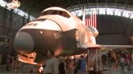 October 17 2008 ZI Space shuttle Enterprise on display in hangar / Washington DC United States