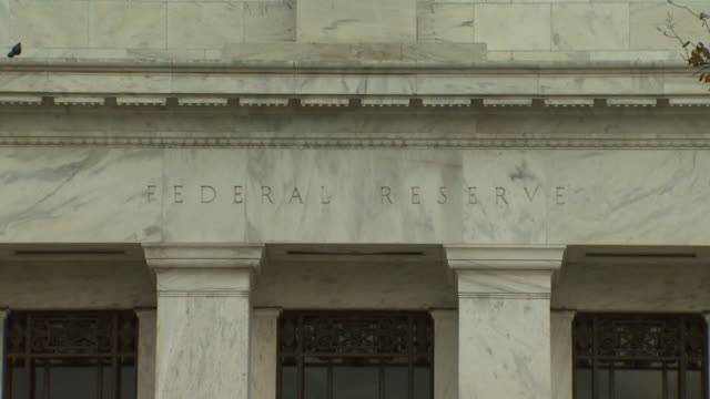 October 22 2009 CU Columns and capitals on entrance of Treasury Building with traffic passing by / Washington DC United States