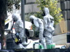 October 23 2001 WS Hazmat workers with equipment at the Capitol/ Washington DC United States