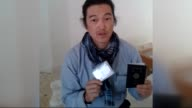 ALEPPO SYRIA October 24 Japanese journalist Kenji Goto Jogo one of two Japanese hostages captured by Islamic State of Iraq and Levant gives an...