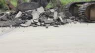 HD of demolition asphalt.