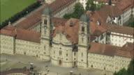 WS AERIAL VIEW of Einsiedeln Abbey church / Schwyz, Switzerland