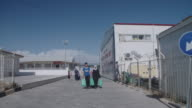 SHOT of Kilis Oncupinar Accommodation Facility in Turkey which is a model refugee camp for Syrian refugees