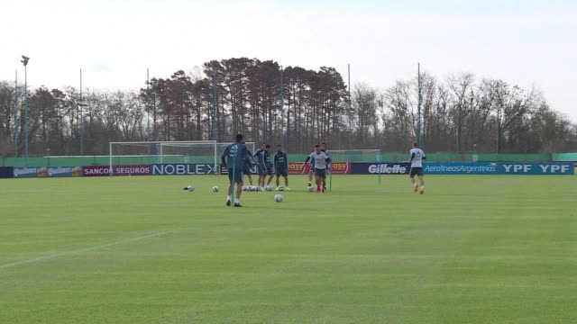 FILE of the Argentinian team training ahead of the Copa America which will be played in Chile from June 11 to July 4