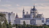 ZO TL of the cathedral and Royal Palace of Madrid, Spain.