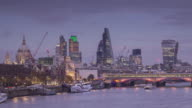 ZO TL of the City of London and the River Thames, UK.