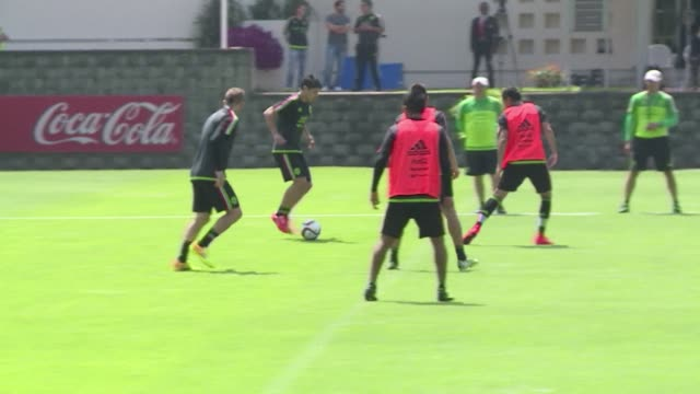 FILE of the Mexican team training ahead of the Copa America which will be played in Chile from June 11 to July 4