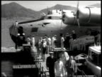 COMMONWEALTH of the PHILIPPINES Dock scene w/ sign 'American President Lines' California Clipper commercial airplane docked unloading passengers...