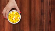 Offering yellow pills