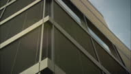 CU LA Office building exterior with blinds in windows visible / Basel, Switzerland