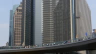 WS Office buildings and pedestrians, Pudong