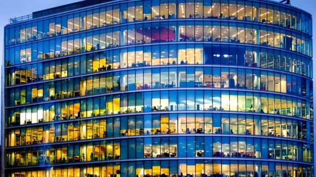Edificio Ufficio affari a Londra, Inghilterra-Time lapse