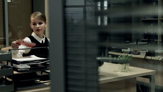 Office clerk at work