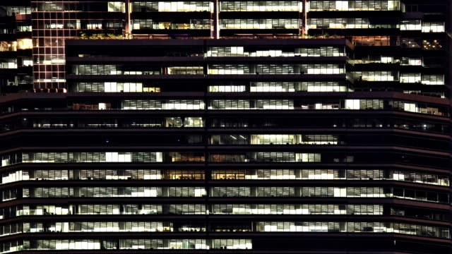 Office Window Night Time lapse